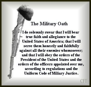 Military Oath ~ Click Here for a Larger Image
